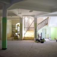 Būvdarbi Centra sākumskolas ēkā Saules ielā 37