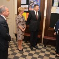 Latvijas Valsts prezidents Raimonds Vējonis ar kundzi viesojas Ventspils Jaunrades namā
