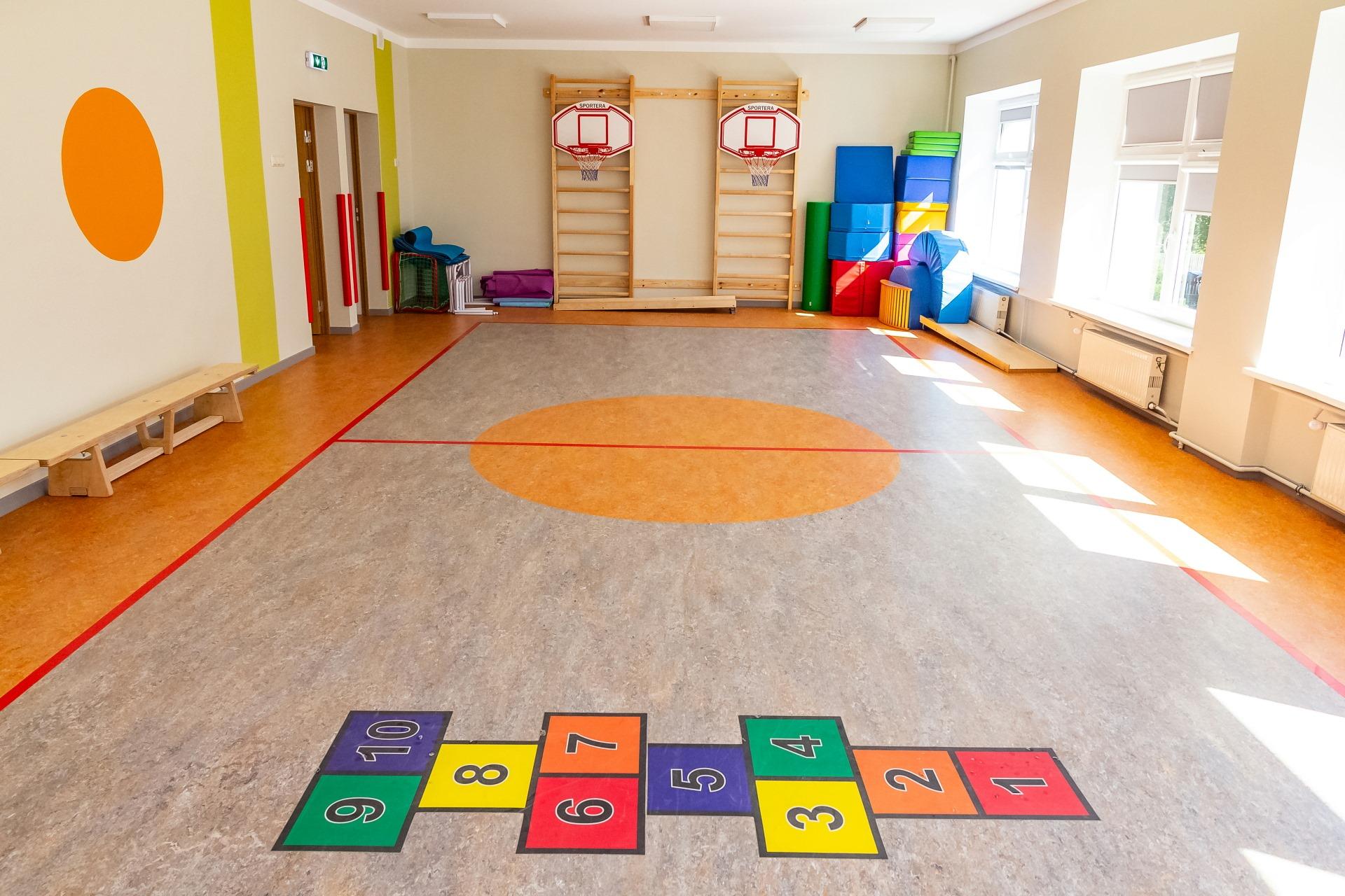 """Jaunas sporta zāles atklāšana pirmsskolas izglītības iestādē """"Varavīksne"""""""