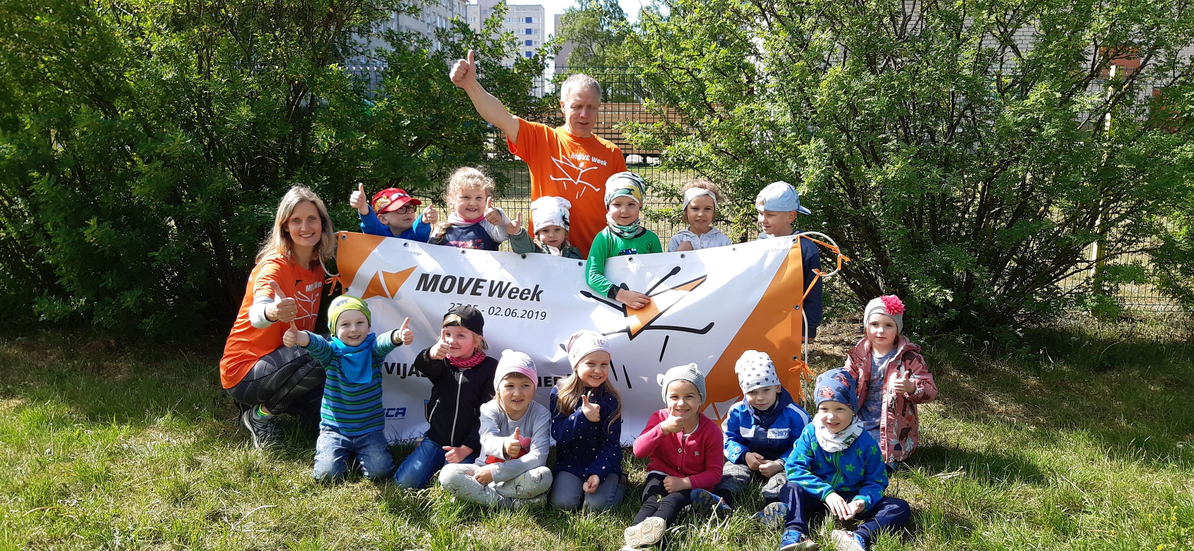 """PII """"Vāverīte"""" sporto Latvijas Veselības nedēļas ietvaros"""
