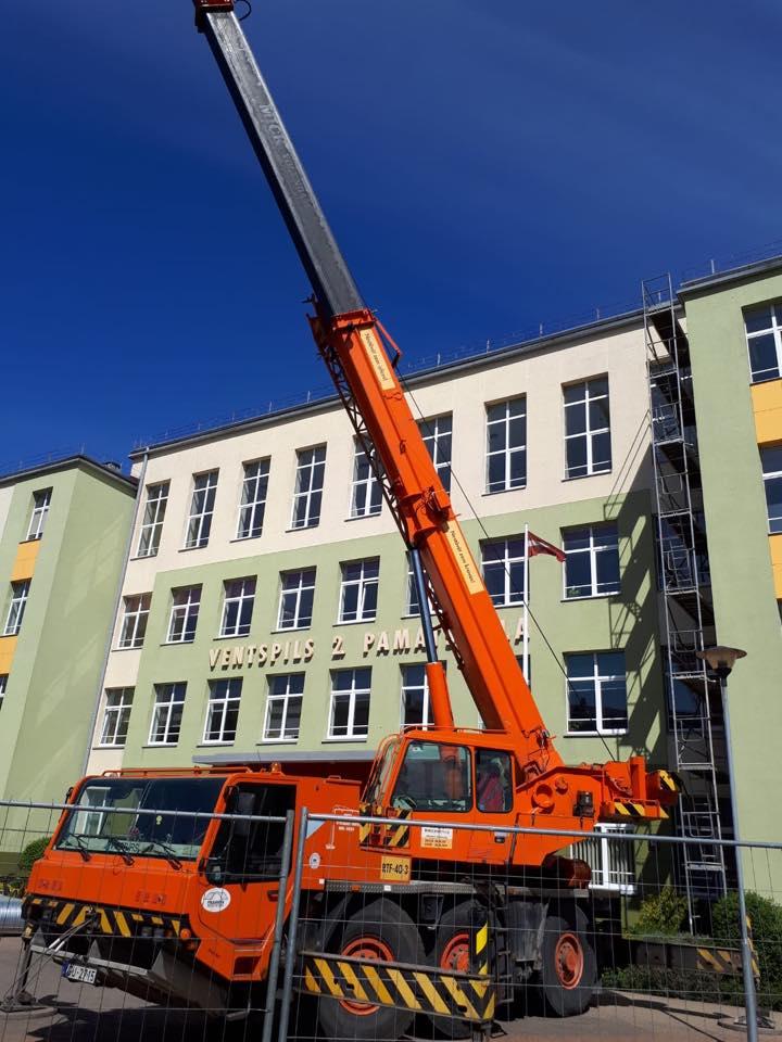 Ventspils izglītības iestādēs sākušies būvniecības darbi