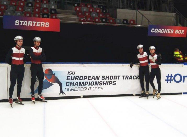 """""""Spars"""" audzēkņi piedalījās Eiropas čempionātā šorttrekā 2019"""