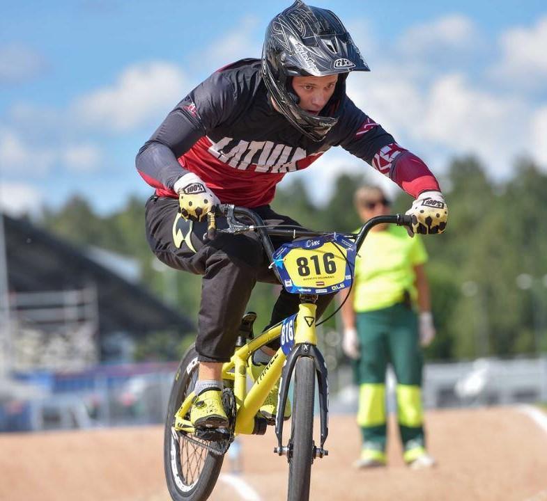 Gūst panākumus Latvijas čempionāta posmā BMX riteņbraukšanā