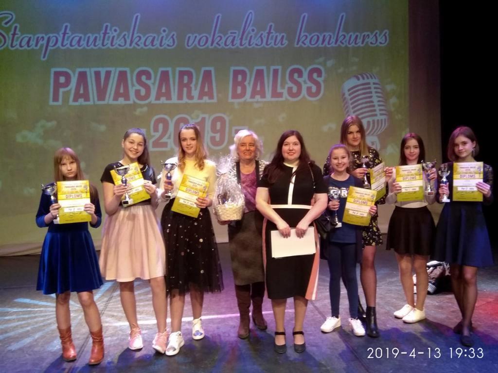 """Solistiem panākumi konkursā """"Pavasara balsis 2019"""""""